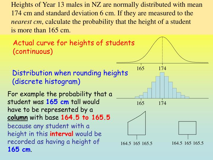 Heights of Year 13 males in NZ are normally distributed with mean