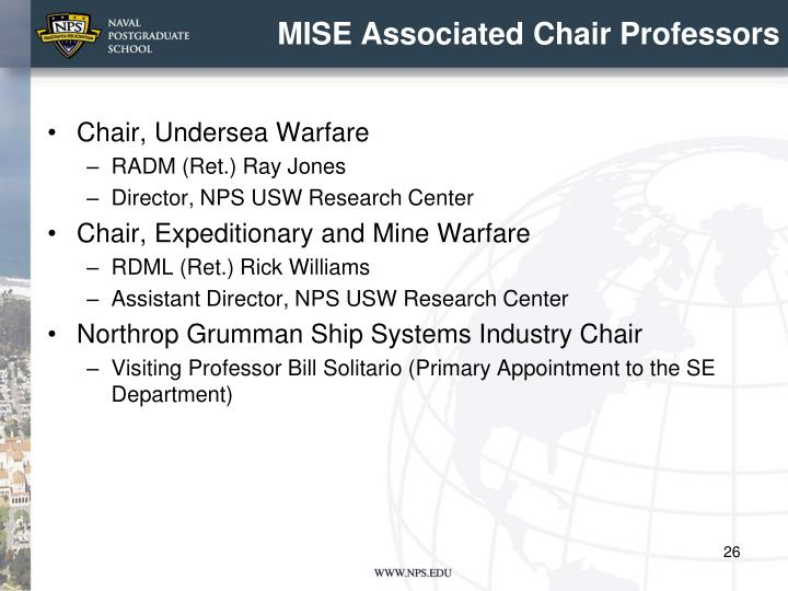 MISE Associated Chair Professors
