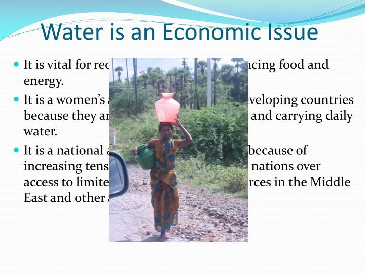 Water is an Economic Issue