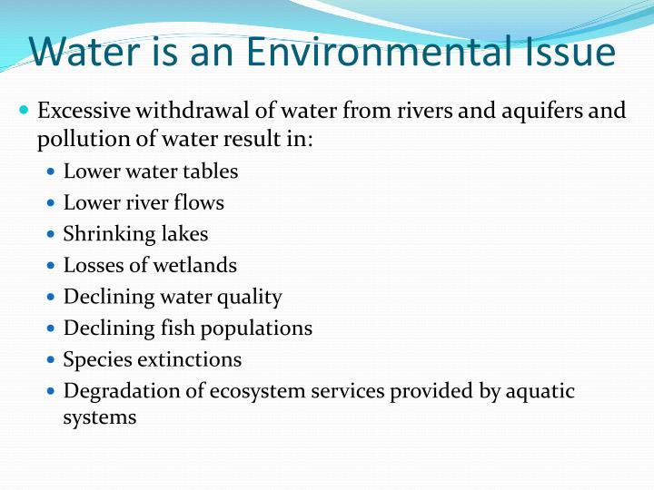 Water is an Environmental Issue