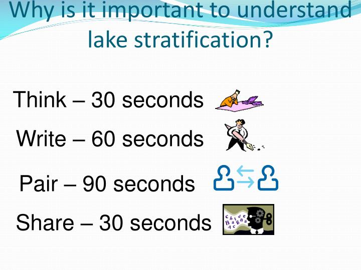 Why is it important to understand lake stratification?