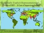 spatially explicit representation of value of npp cost of impervious surface