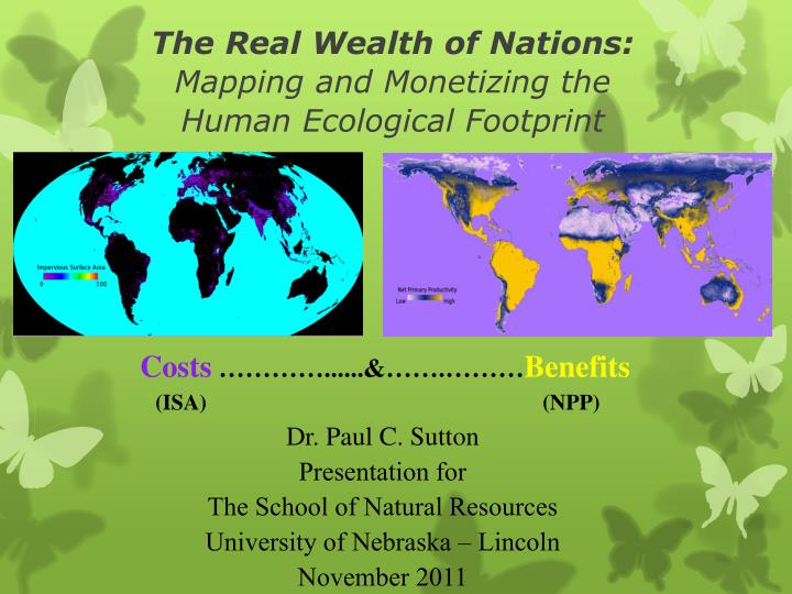 the real wealth of nations mapping and monetizing the human ecological footprint