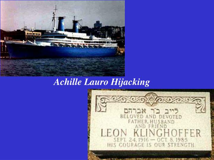 Achille Lauro Hijacking