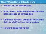 the maritime strategy
