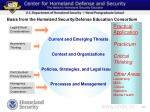 basis from the homeland security defense education consortium