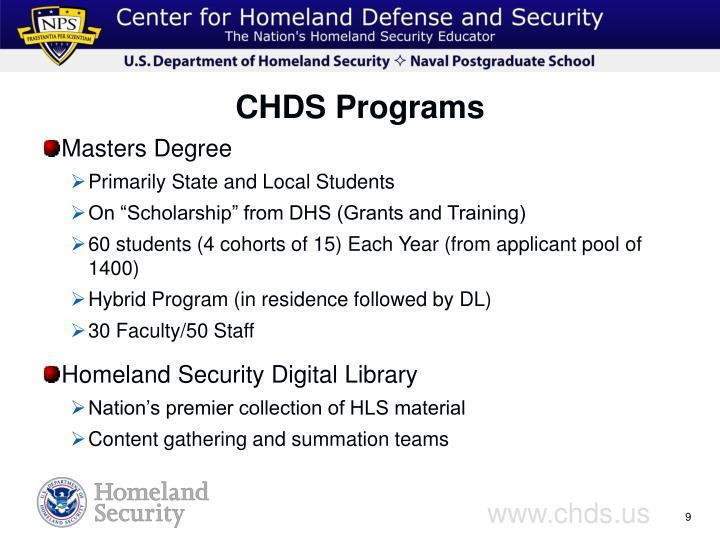 CHDS Programs