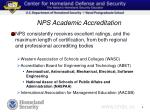 nps academic accreditation