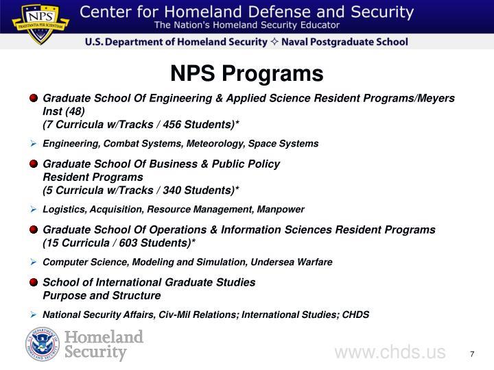 NPS Programs