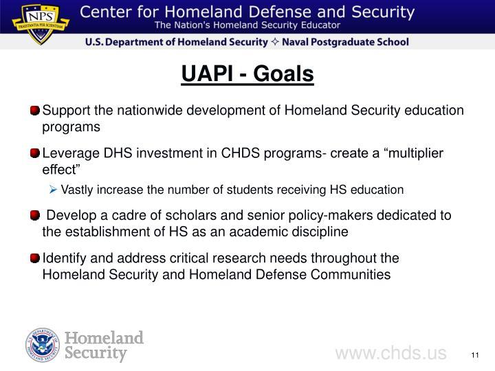 UAPI - Goals