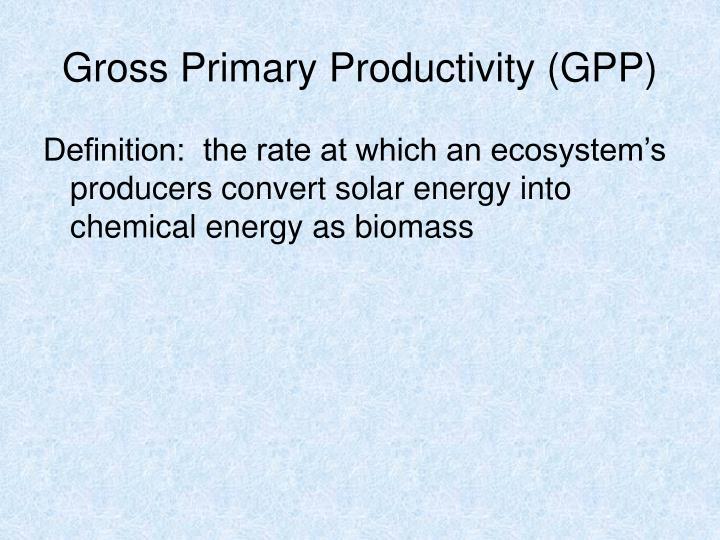 Gross Primary Productivity (GPP)