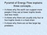pyramid of energy flow explains three concepts