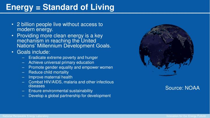 2 billion people live without access to modern energy.