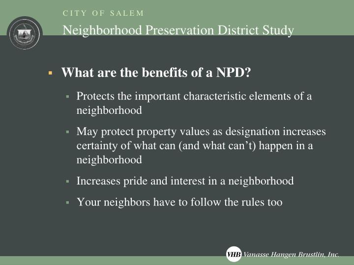 Neighborhood Preservation District Study