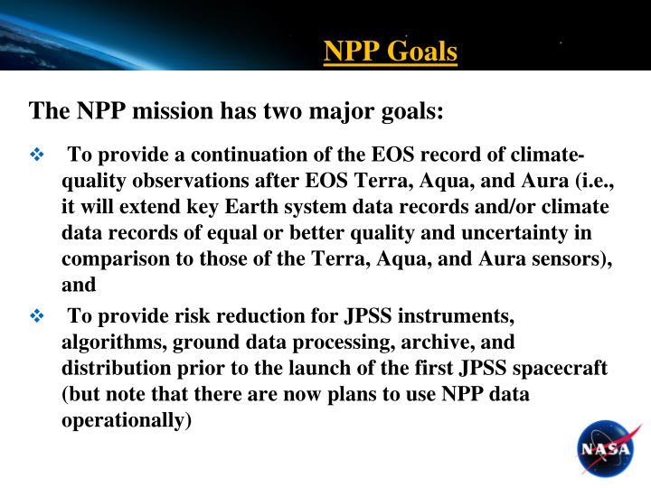 NPP Goals