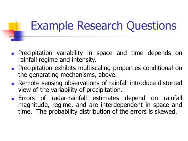 Example Research Questions