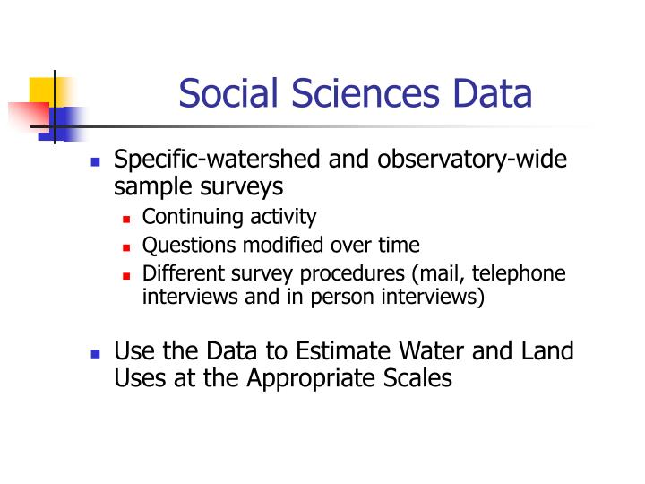 Social Sciences Data
