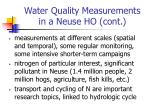 water quality measurements in a neuse ho cont