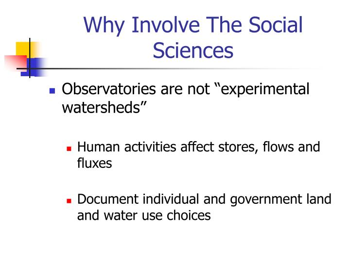 Why Involve The Social Sciences
