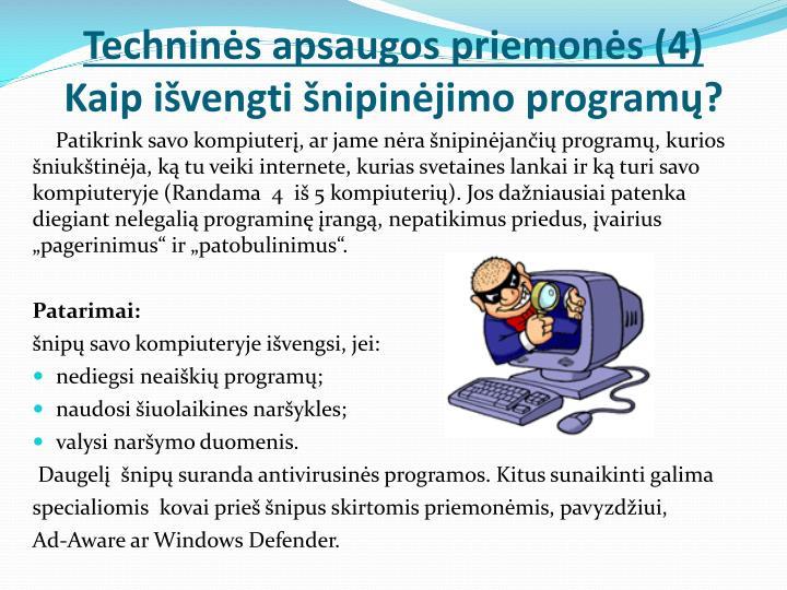 Techninės apsaugos priemonės (4)