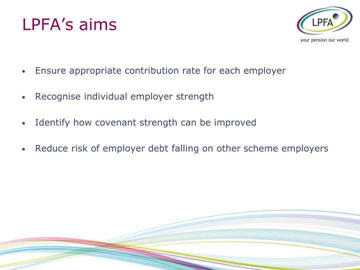 LPFA's aims