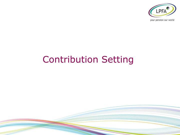 Contribution Setting
