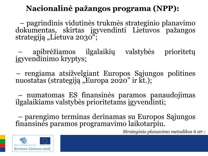 Nacionalinė pažangos programa (NPP):