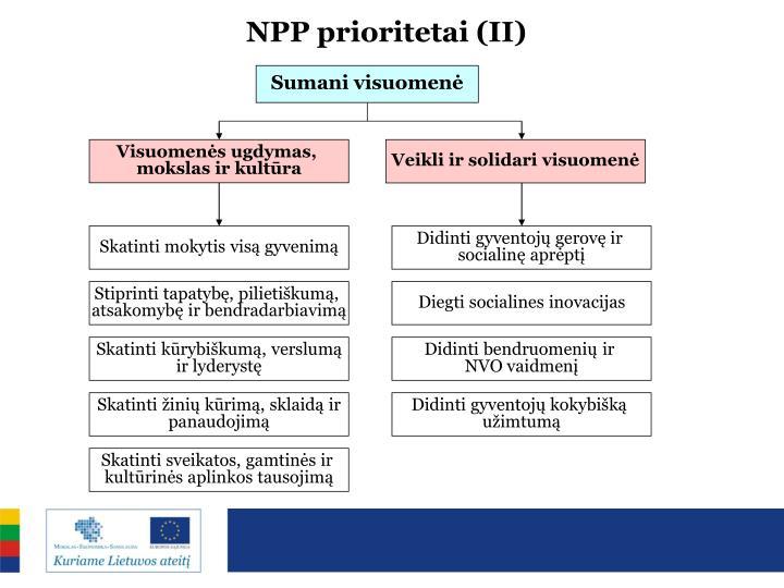 NPP prioritetai (II)