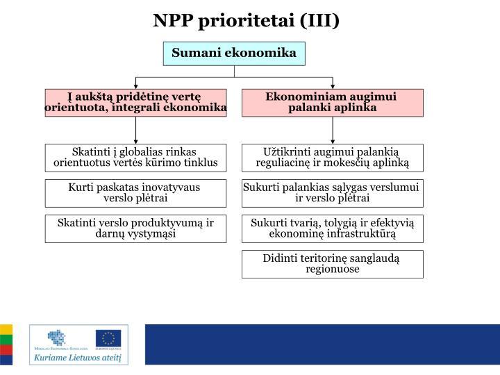 NPP prioritetai (III)