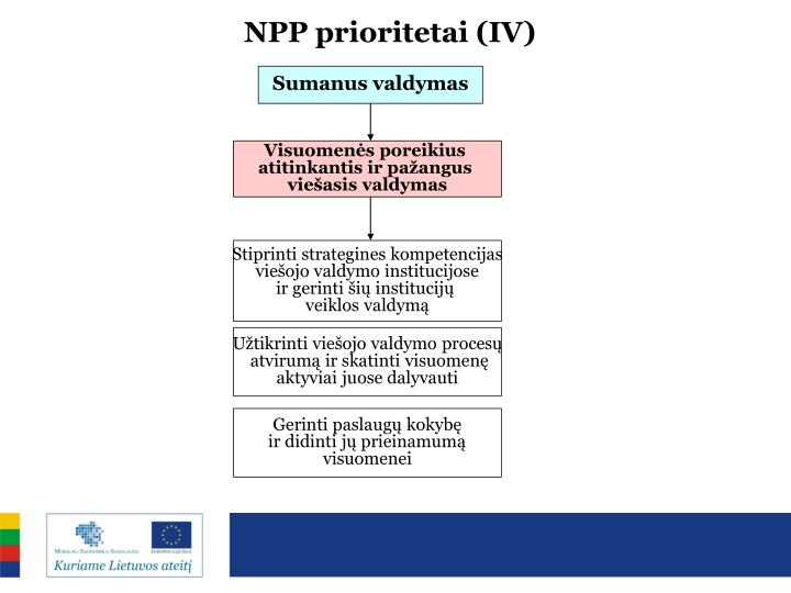 NPP prioritetai (IV)