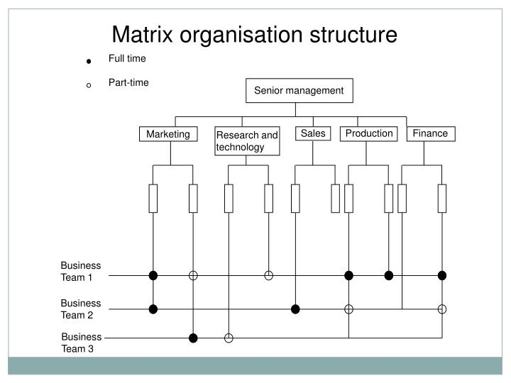Matrix organisation structure