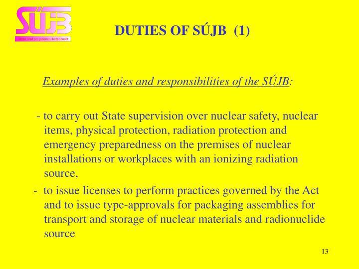 DUTIES OF SÚJB  (1)