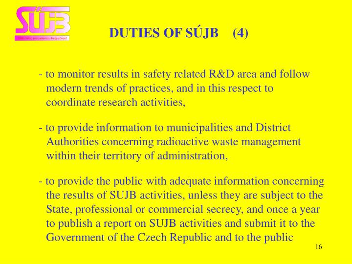 DUTIES OF SÚJB    (4)