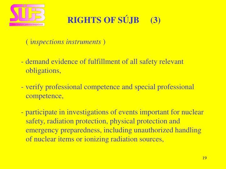 RIGHTS OF SÚJB     (3)