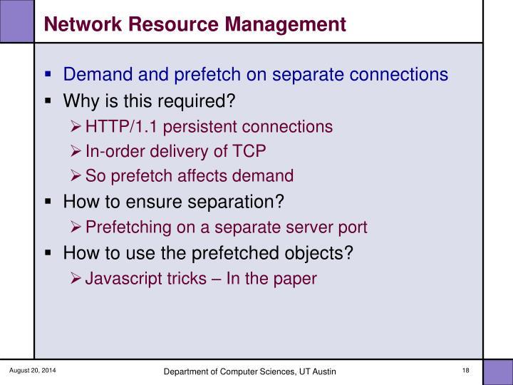 Network Resource Management
