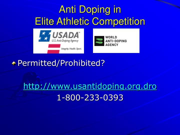 Anti Doping in