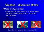 creatine disproven effects