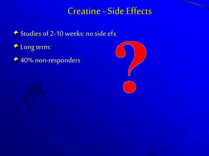 Creatine - Side Effects