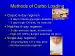 methods of carbo loading