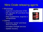 nitric oxide releasing agents