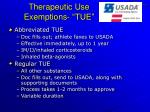 therapeutic use exemptions tue