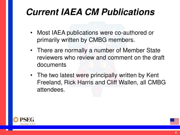 Current IAEA CM Publications