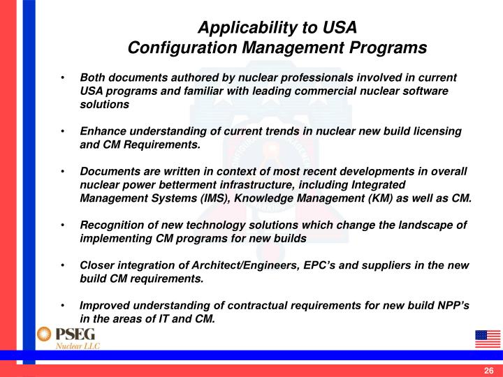 Applicability to USA