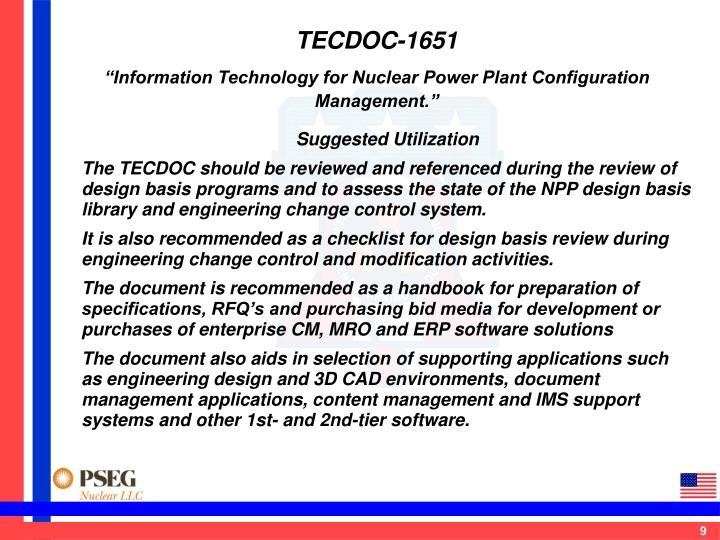 TECDOC-1651