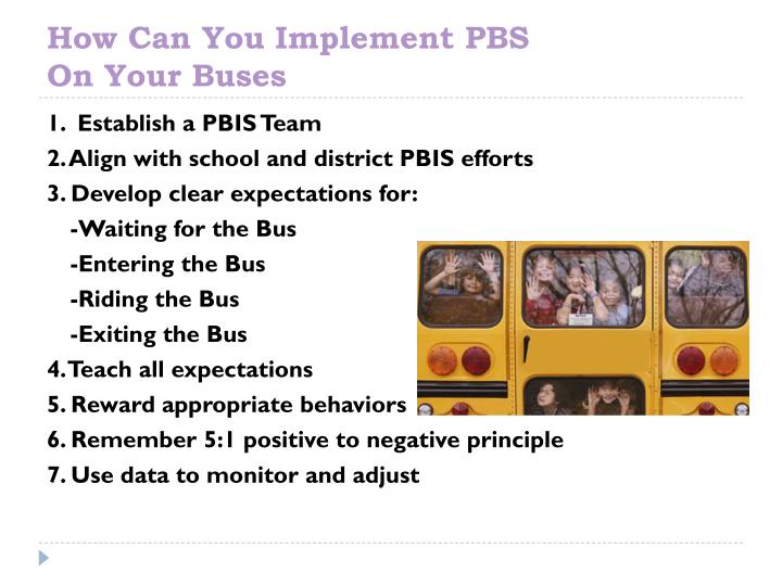 How Can You Implement PBS