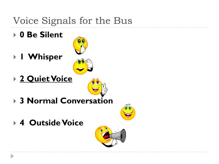 Voice Signals for the Bus