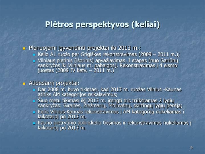 Plėtros perspektyvos (keliai)