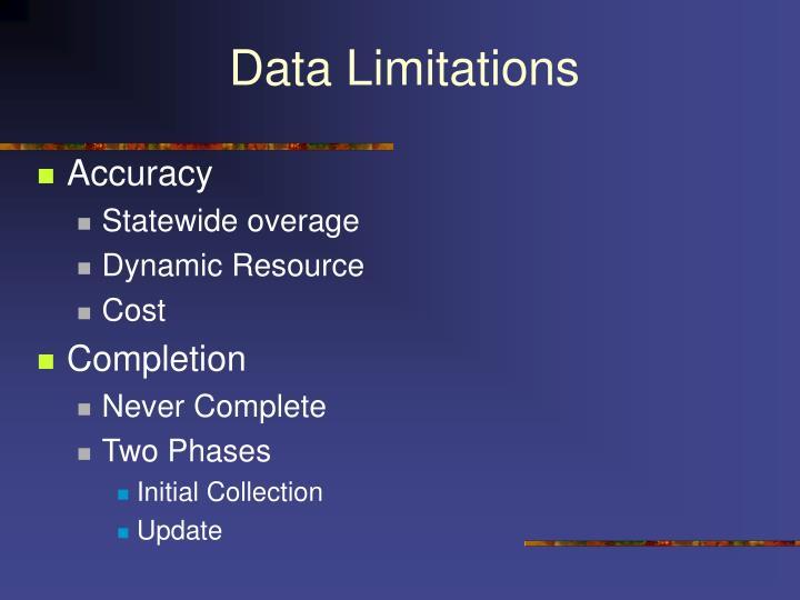 Data Limitations