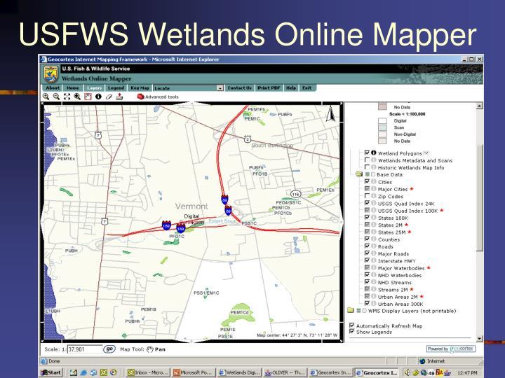 USFWS Wetlands Online Mapper