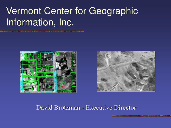 vermont center for geographic information inc